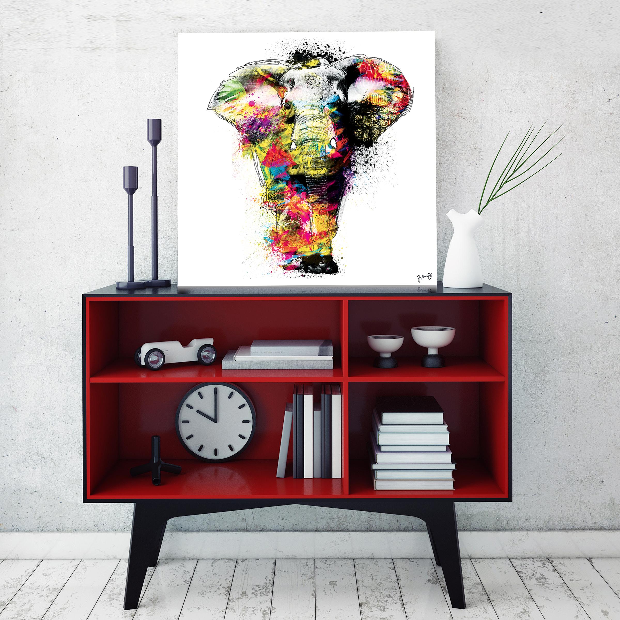 tableau l phant. Black Bedroom Furniture Sets. Home Design Ideas