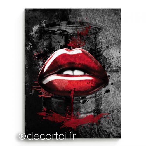 tableau bouche rouge fond gris archives achat de tableaux sur internet decortoi. Black Bedroom Furniture Sets. Home Design Ideas