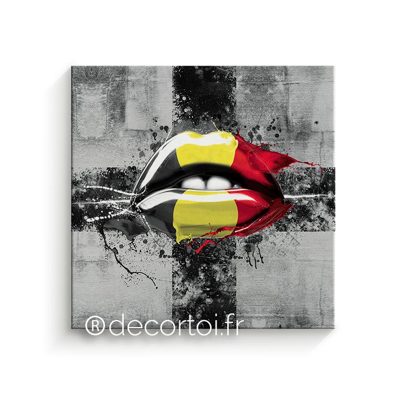 Tableau bouche belgique fond gris achat de tableaux sur - Achat internet belgique ...