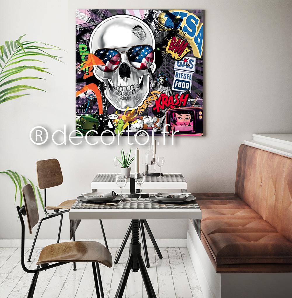 tableau skull am rique achat de tableaux sur internet. Black Bedroom Furniture Sets. Home Design Ideas