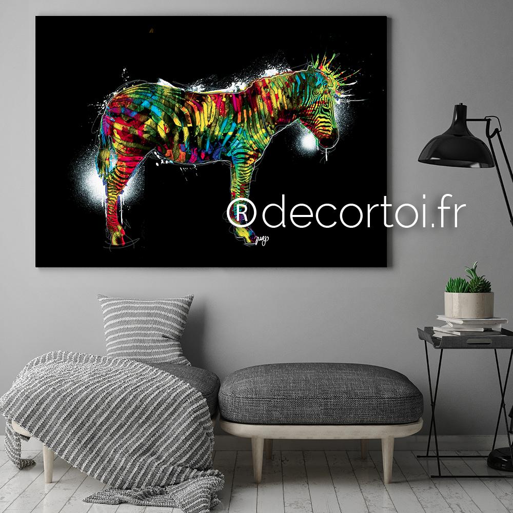 tableau z bre multicolor fond noir achat de tableaux sur internet decortoi. Black Bedroom Furniture Sets. Home Design Ideas