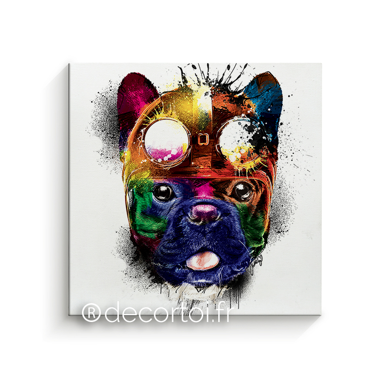 Tableau Bouledogue bulldog 5 tableau decoration 00392 bulldog blanc image1