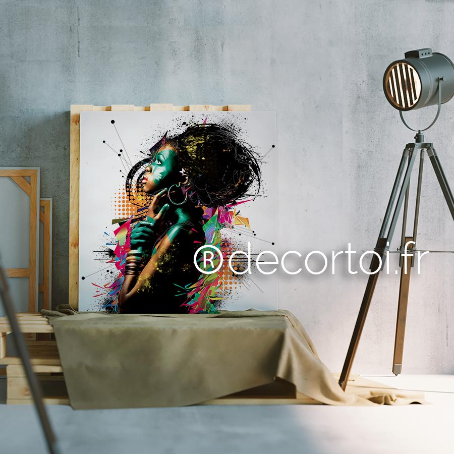 tableau africaine fond blanc achat de tableaux sur internet decortoi. Black Bedroom Furniture Sets. Home Design Ideas